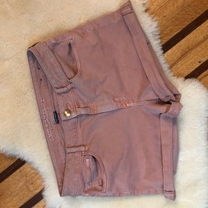 Rose Pink AE High Rise Shorts